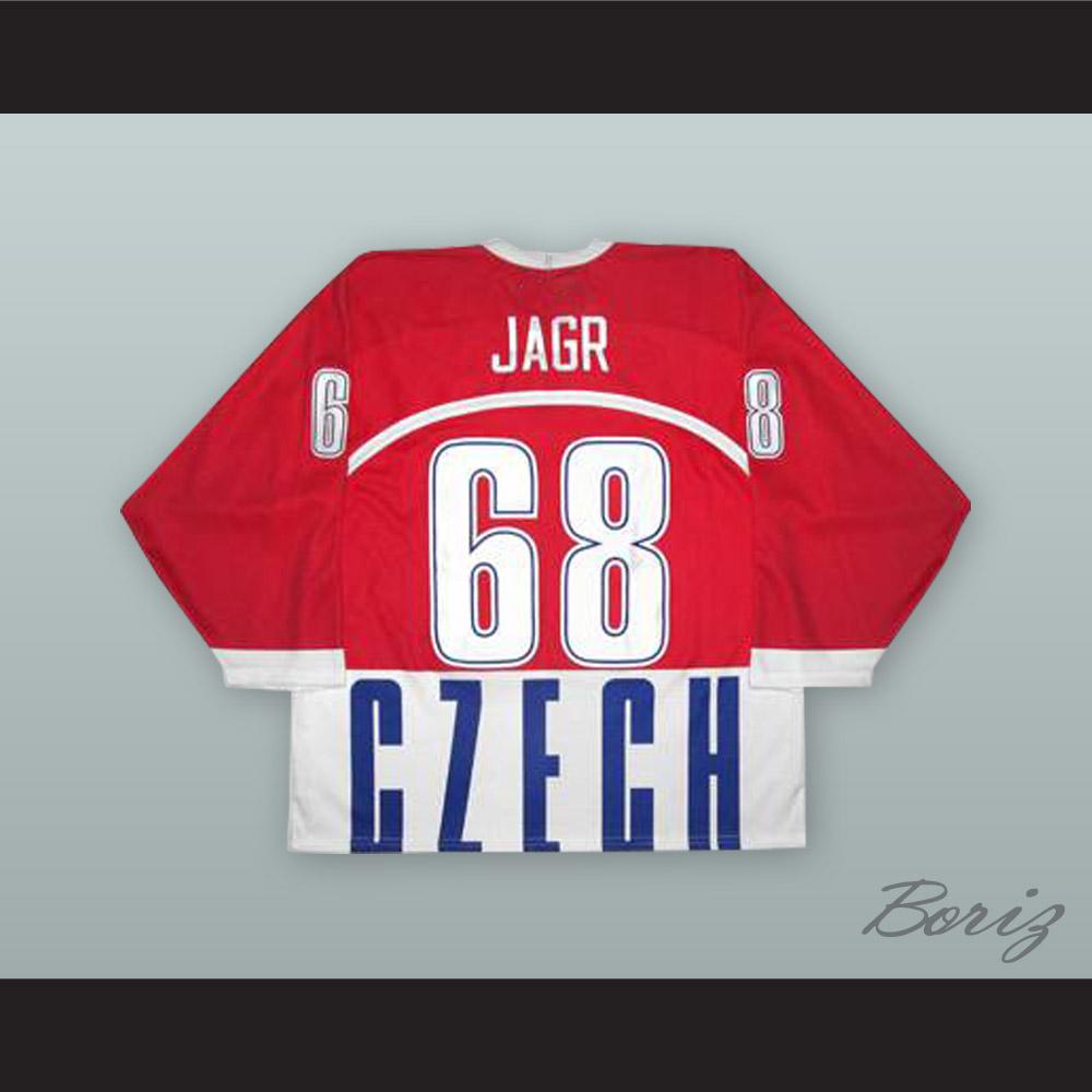 d04fa07bc6d Jaromir Jagr 68 Czech Republic National Team Red Hockey Jersey — BORIZ
