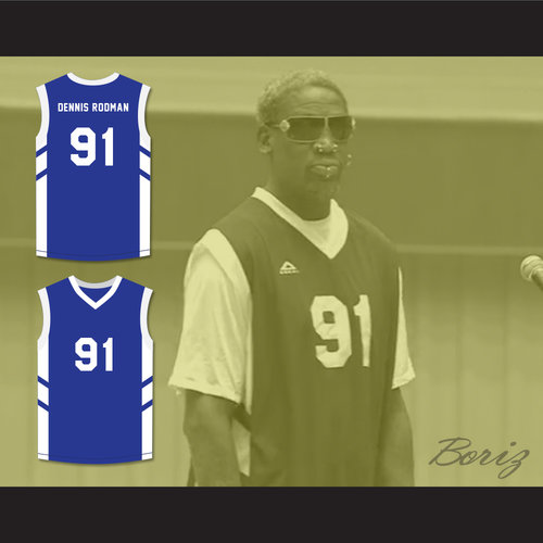 new arrival c0922 5889a Dennis Rodman 91 Blue Basketball Jersey Dennis Rodman's Big Bang in  PyongYang