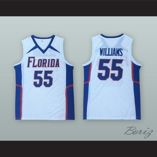 on sale 10532 f2073 Jason Williams 55 Florida White Basketball Jersey