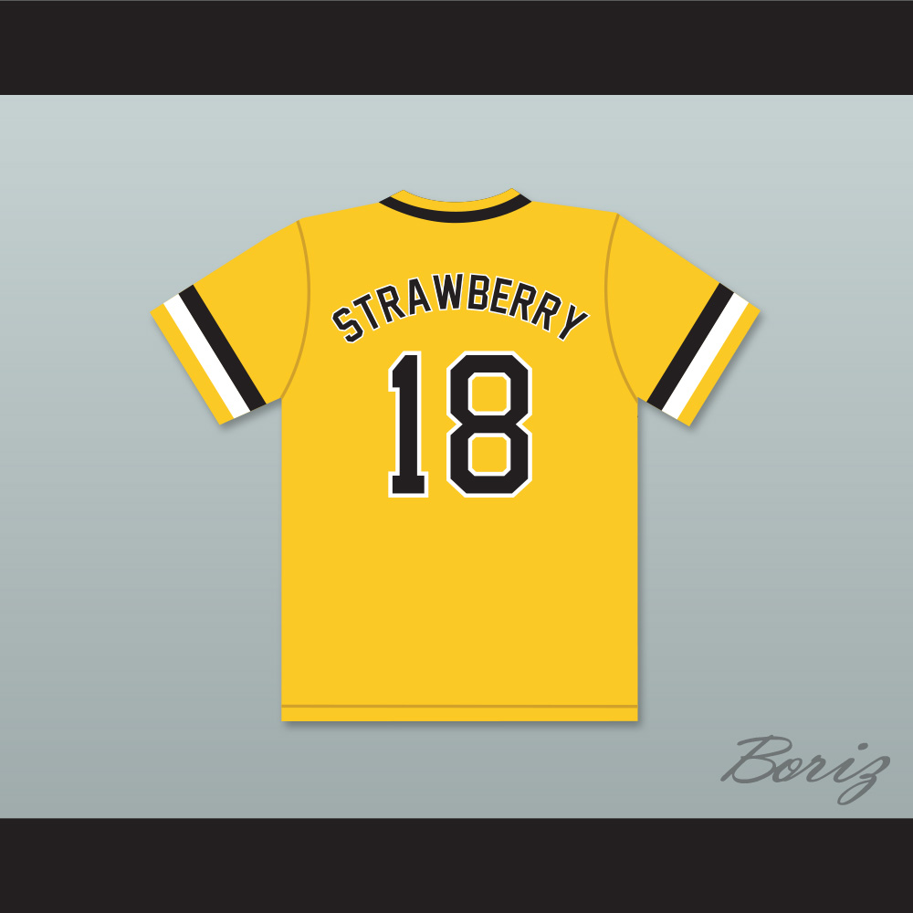 109bc52f34bd Darryl Strawberry 18 Crenshaw High School Cougars Yellow Baseball Jersey —  BORIZ