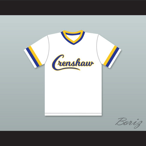 8a79e619e458 Darryl Strawberry 18 Crenshaw High School Cougars White Baseball Jersey