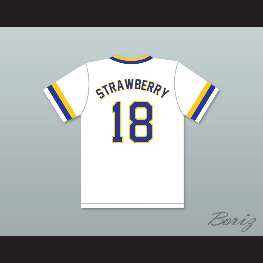 d2db0f2437ee Darryl Strawberry 18 Crenshaw High School Cougars White Baseball Jersey —  BORIZ
