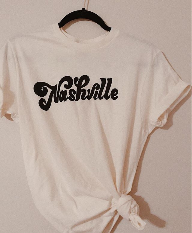 Hi! Just restocked the Nashville tee! Go getcha one 🤠