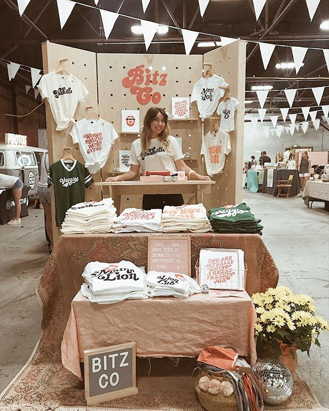 Thank you for coming out to Market for Makers ya'll! Temporarily sold out of #womenmaketheworldgoround shirts and almost sold out of Nashville 😜 Love yas! xoxo - Andalyn
