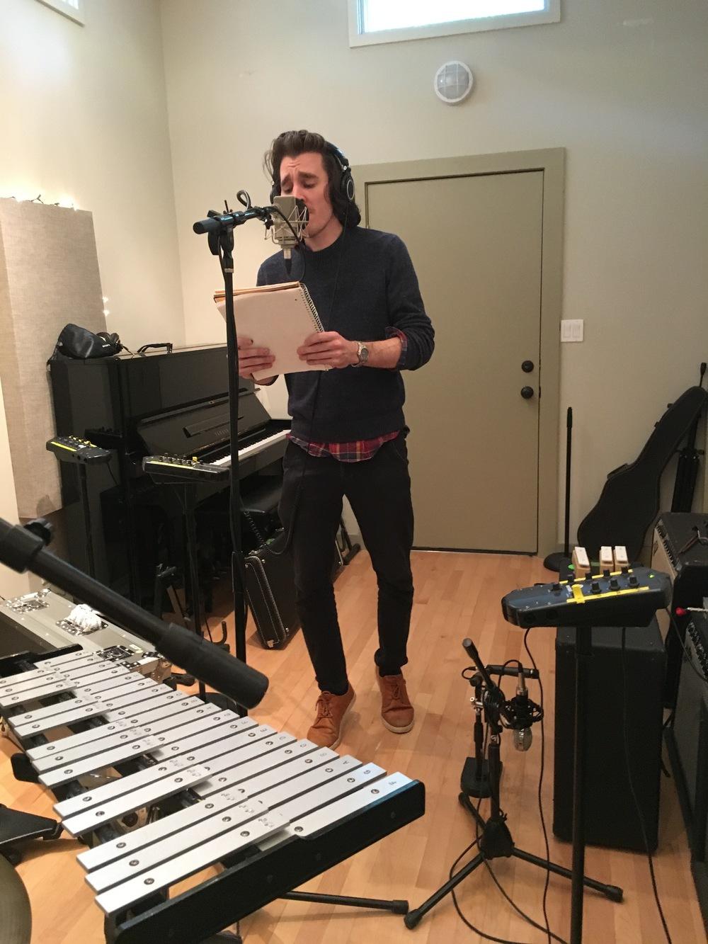 Brendan Bond adding harmonies to the chorus at Resonate in Austin, TX
