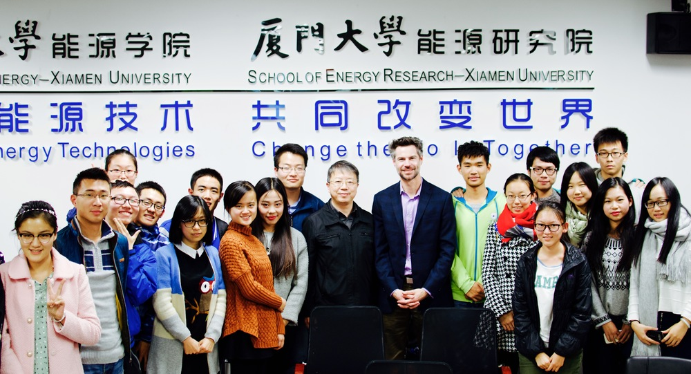 EP President Michael Shellenberger at Xiamen University's School of Energy Research with School director and EP Science Advisor, Ning Li, and his students. Ning Li worked at the US Department of Energy for many years and helped bring bill gates to china, which led to a collaboration between Gates' Terrapower and the Chinese government.