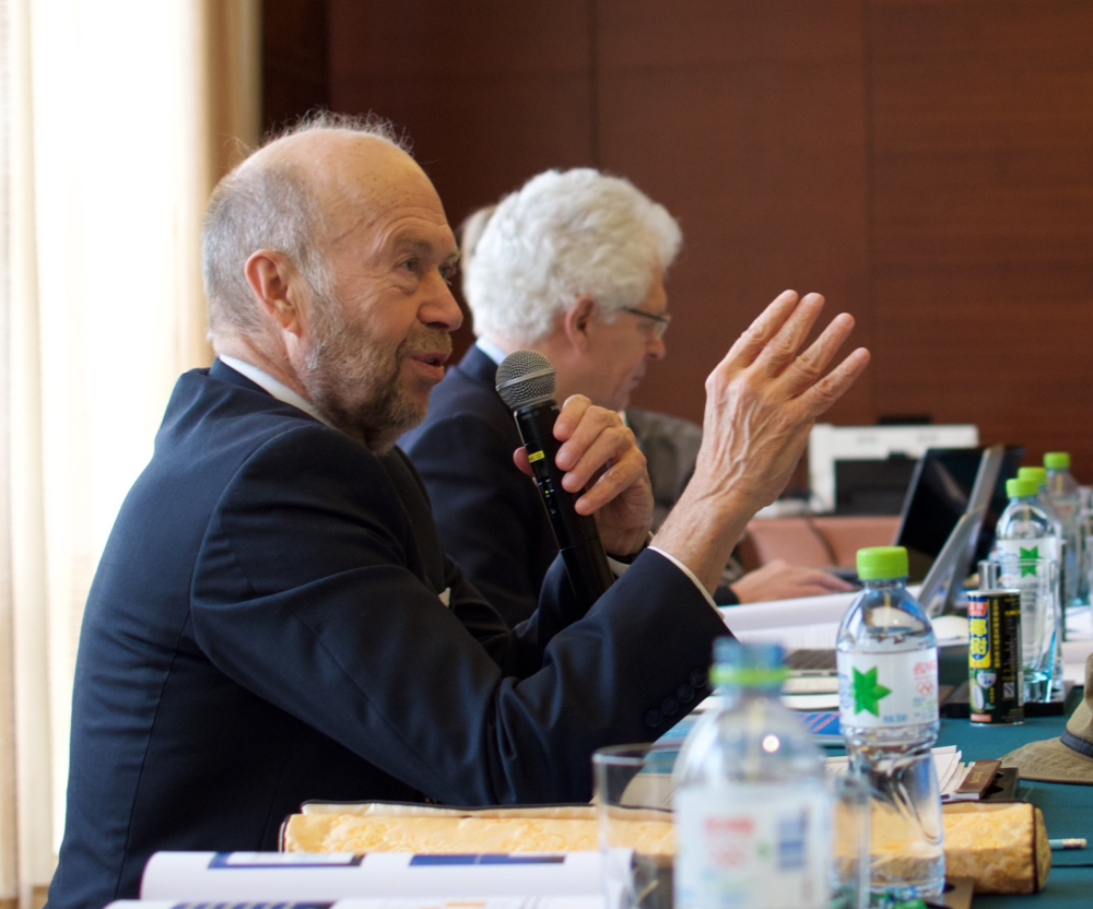 Climate Scientist James hansen had the idea for the US-China conference after suffering an asthma attack in Beijing.  Wanning, China, December, 2015
