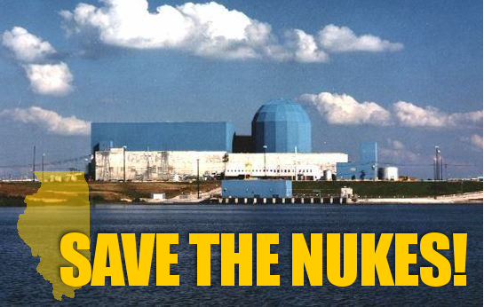 Save the nukes Clinton Quad Cities Nuclear Plants