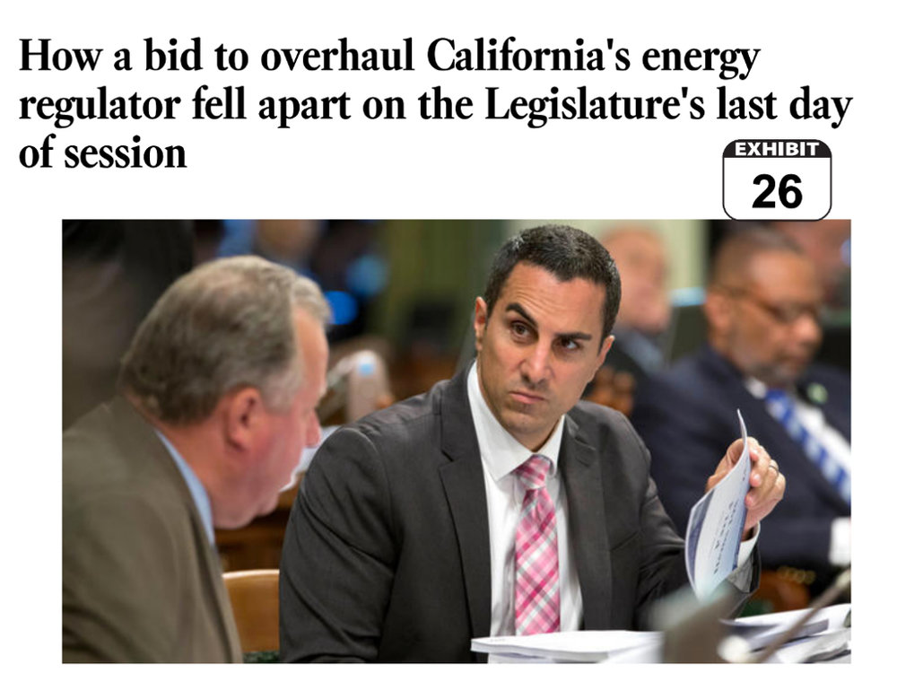 Assemblyman Mike Gatto (D-SJ) fought for CPUC reform which at the last minute was killed by CPUC President Michael Picker.