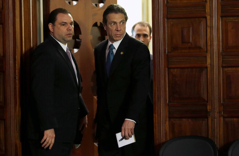 Gov. Cuomo aide Percoco (left) took bribes from natural gas company Competitive Power Ventures to press for the closure of Indian Point.