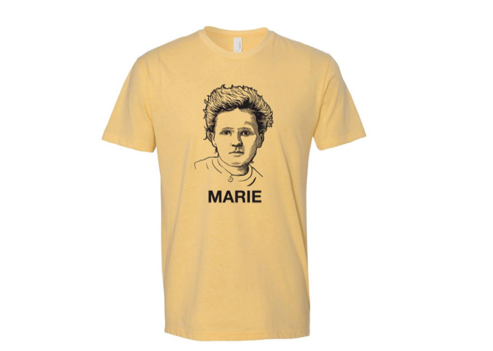First Atomic Humanist T-Shirt For Sale!  Custom designed marie curie t-shirt - $25  Sizes: XS, S, M, L, XL, XXL