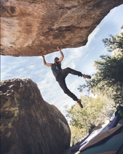 The author, wishing he had more points of contact in Hueco  Photo: John Wesely
