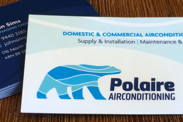 POLAIRE AIRCONDITIONG → Logo Design / Branding / Business Card / Van Decal Design