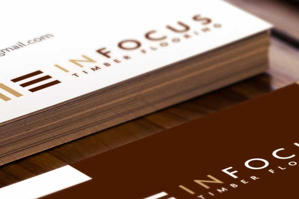 IN FOCUS TIMBER FLOORING    →  Logo Design / Brand Identity / Business Card / A5 Brochure / Price List Template