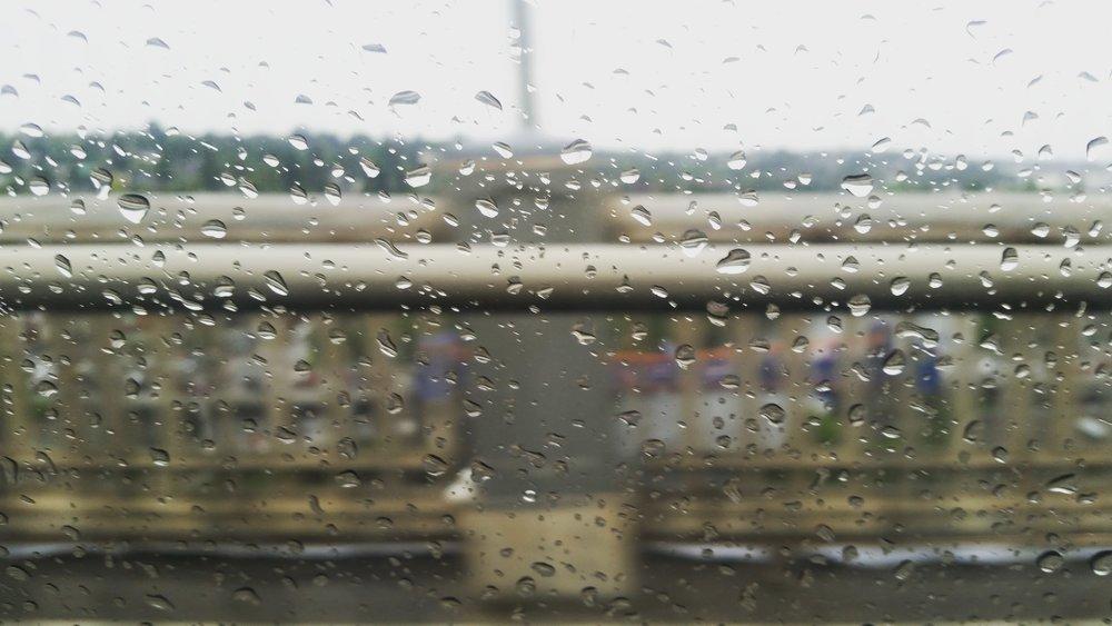 Rainy day in Los Angeles