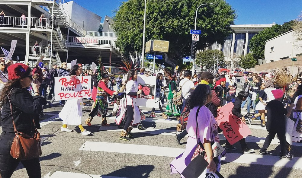 Nobody walks in LA, except during marches