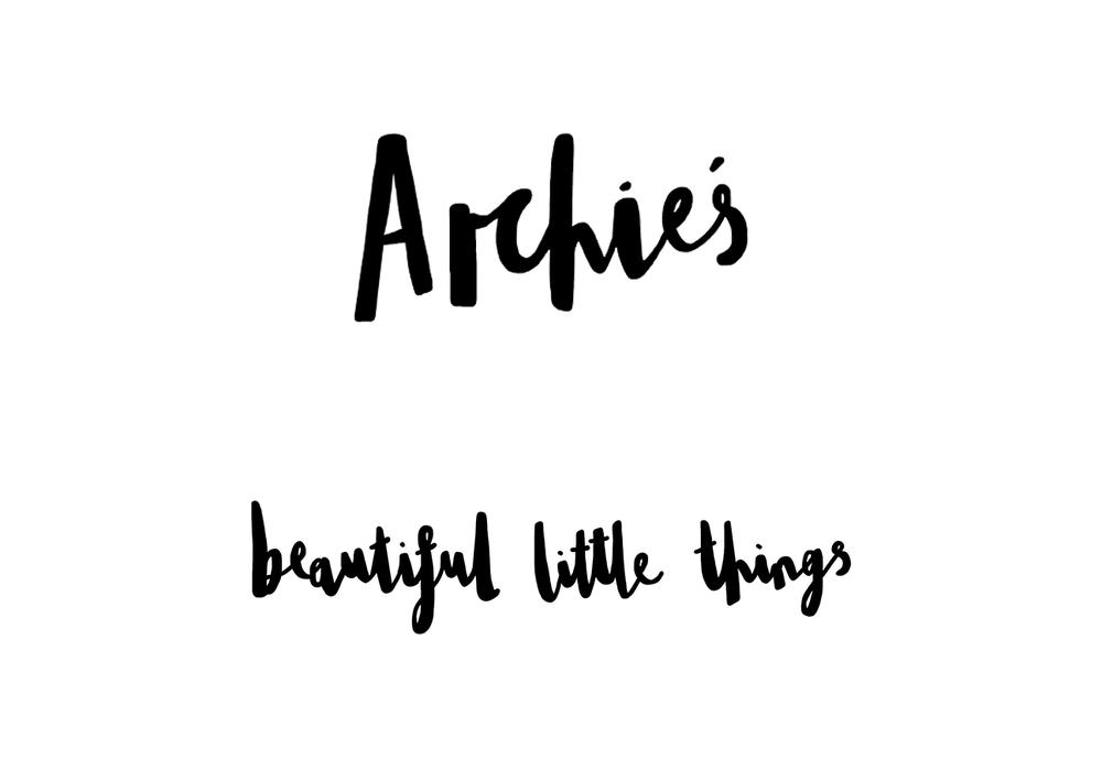 Archie's Boutique Logo design for website, social media and promotional packaging for online kidsware brand