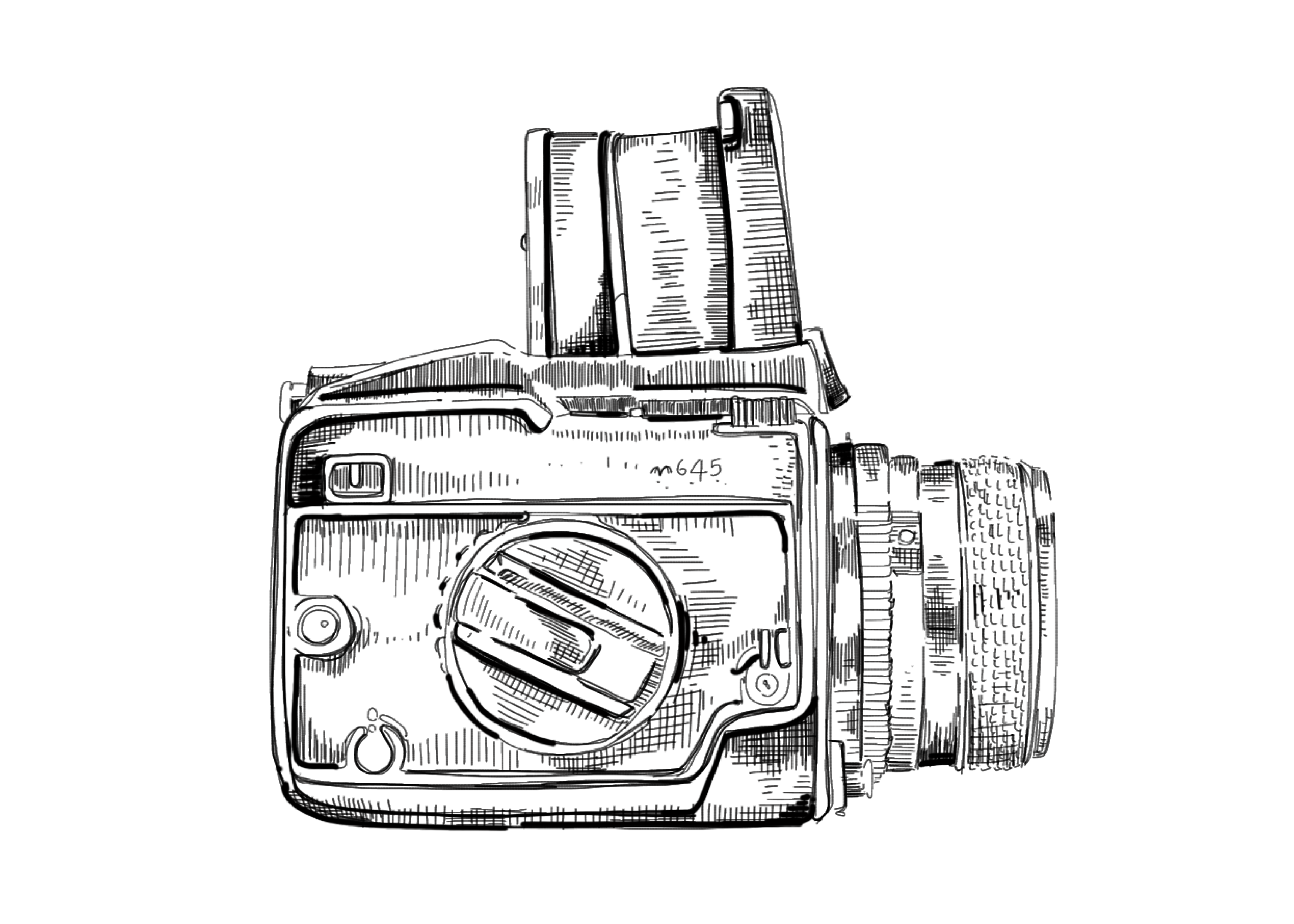 hasselblad camera drawing