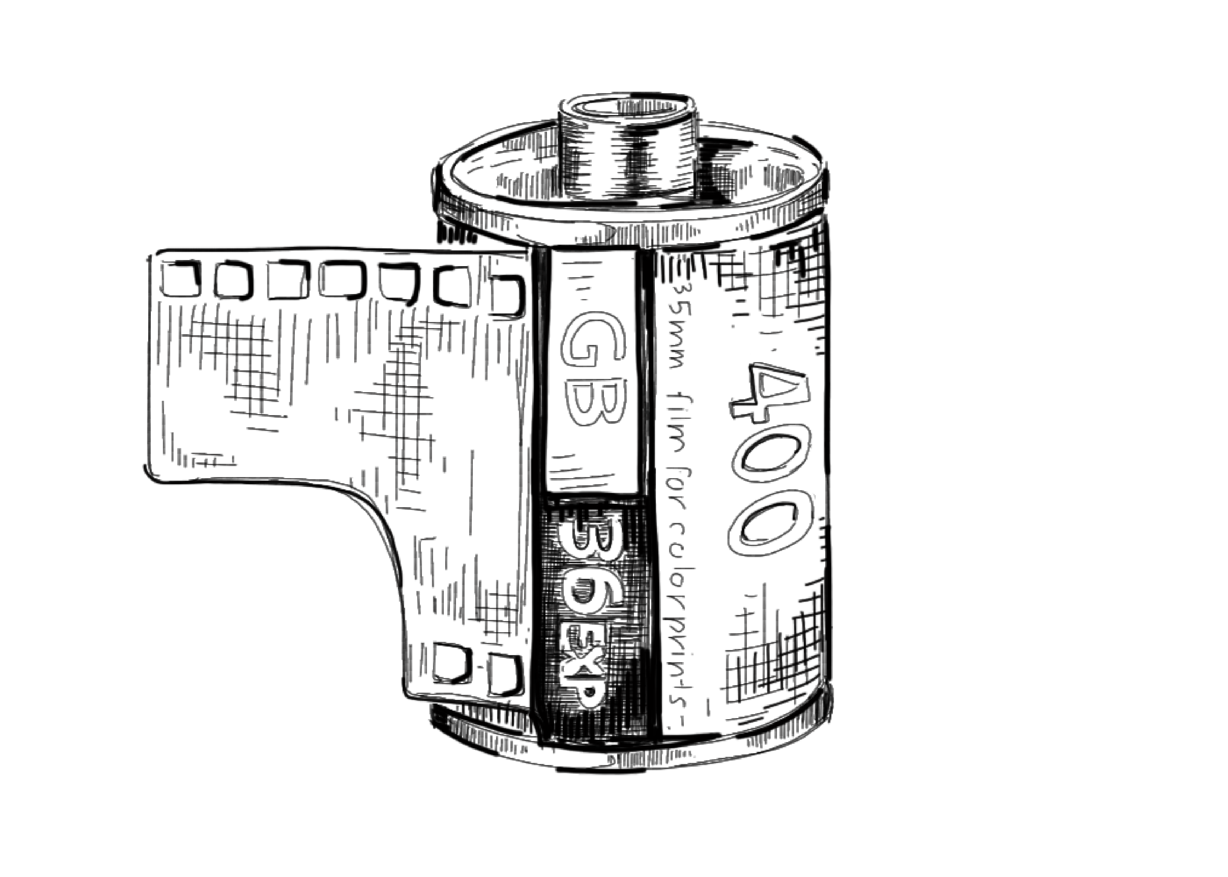 film canister drawing