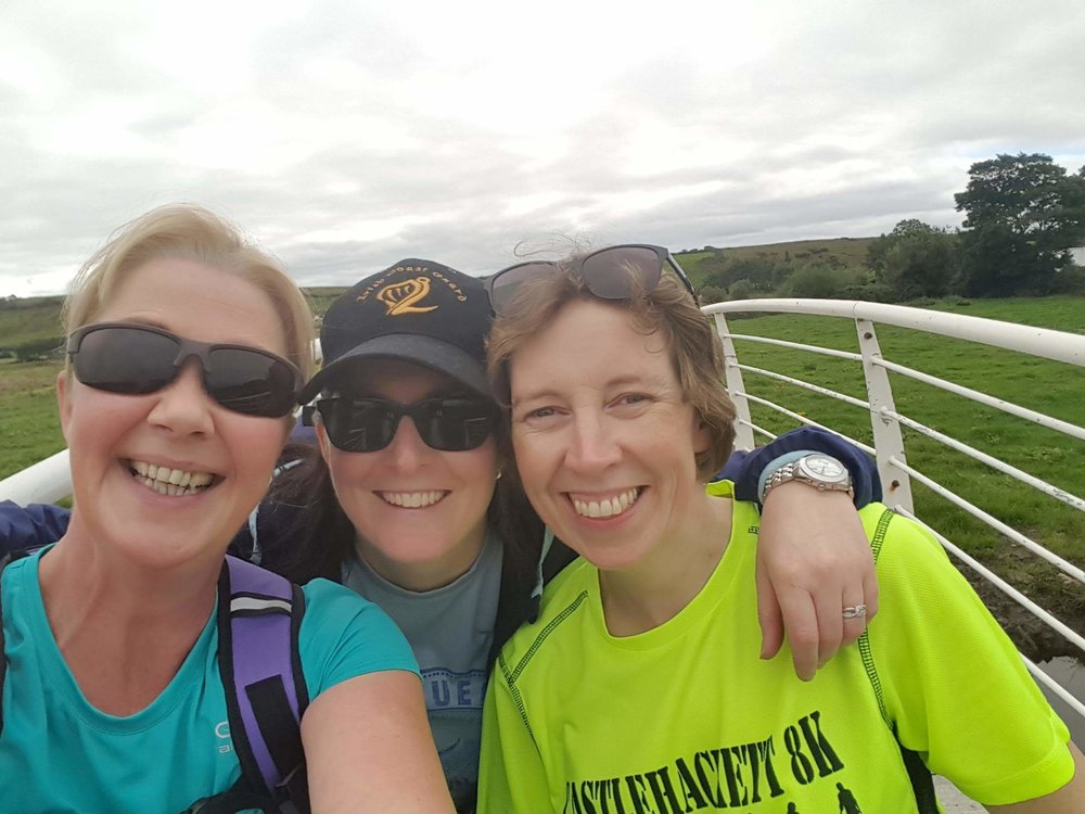 Myself, Aisling and Deirdre on our first cycling adventure together