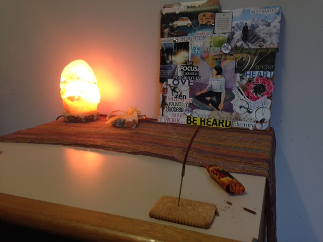 Roadhouse remedy: what to do when you've forgotten the incense holder. I knew Arnott's biscuits must be good for  something