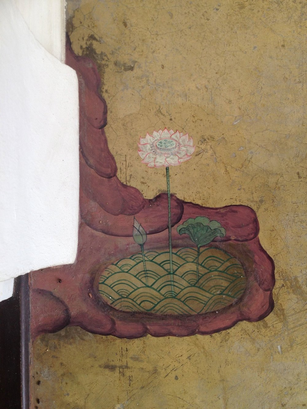 There were wonderful little paintings all over the hallway floors of the ashram