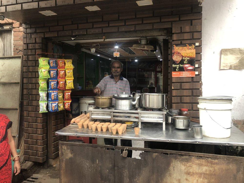 Best chai in Varanassi - Assi Ghat
