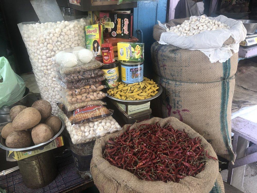 Spice market in Varanassi