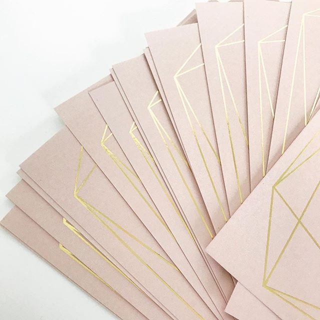 Sneak peek of these #blush #goldfoiled invitations! 😍  So excited about these!  #geometric #modern #weddingday #weddingstationery #weddinginvitations #weddinginvitationsuite #weddinginvitationdesign #rudedesign