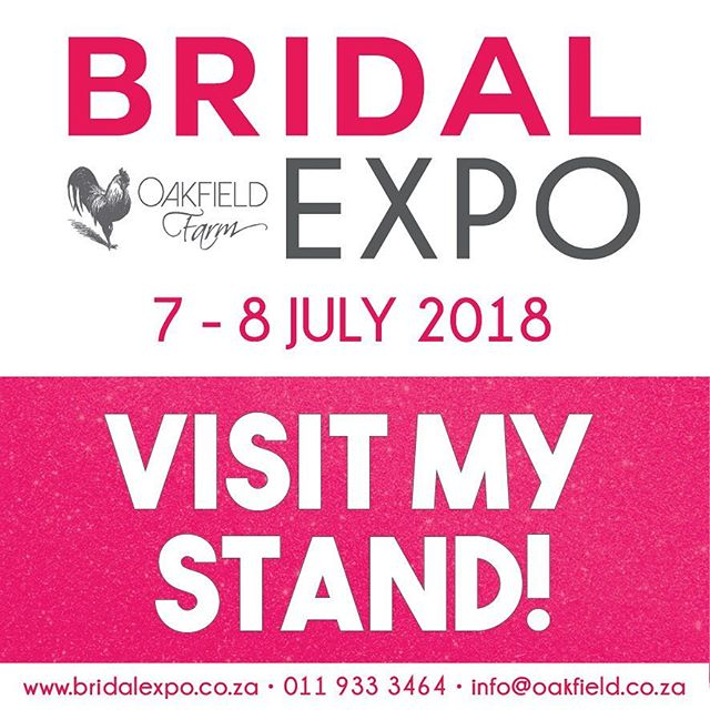 YAY! Rude Design will be exhibiting at the @oakfieldfarmweddingvenue Bridal Expo on 7 and 8 July! Please come say hello!