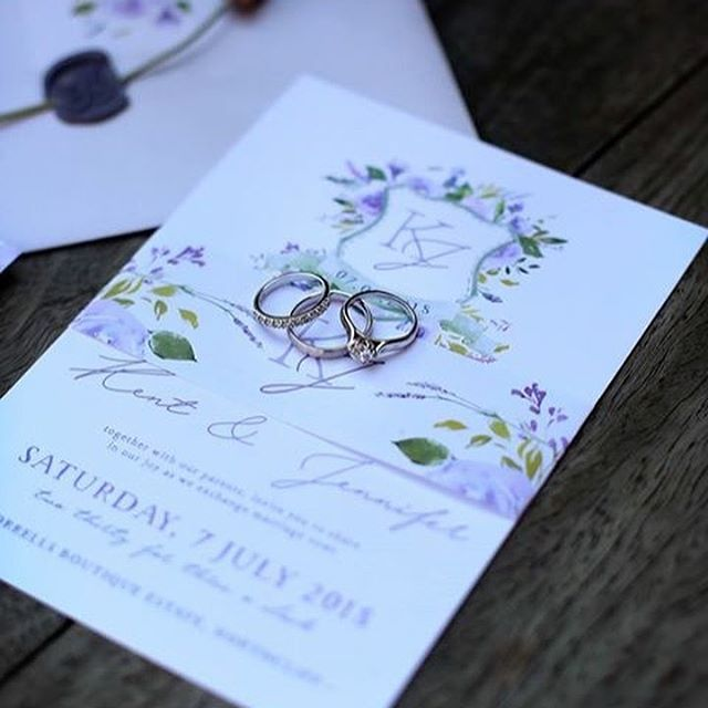 I so loved creating all Jen and Kent's stationery for their special day! 💞 You both looked incredible, Mr + Mrs Davis!  Venue: @morrells_boutique_estate  Dress: @delavidabridal  Photo & Video: @estilo_photography  Stationery: @rudedesign_stationery . . . #frenchinspired #lavender #floral #monogram #crest #invitationsuite #invitationdesign #weddingday #weddingstationery #stationerydesigner #rudedesign