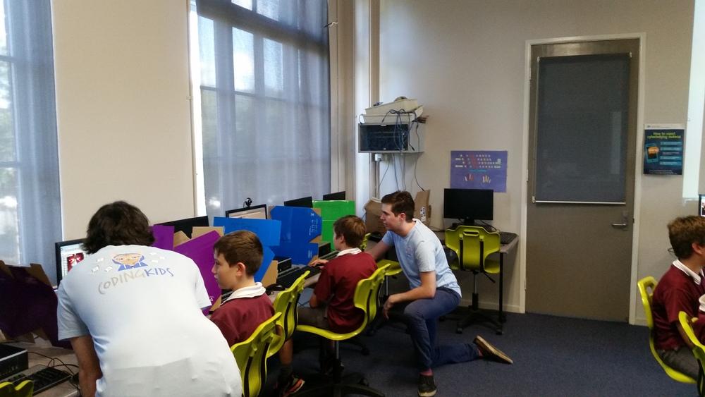After-school code club in Brisbane.