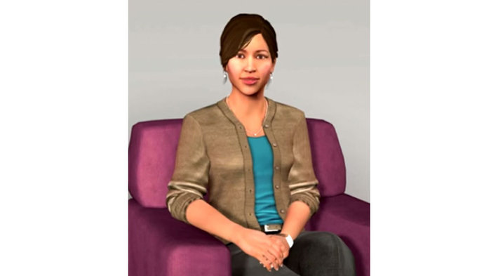 Ellie the artificial intelligence psychologist diagnosing depression and PTSD. Image credit:Institute for Creative Technologies