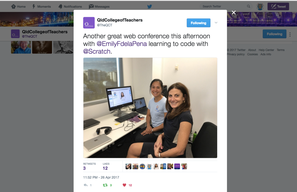 At the Queensland College of Teachers, deliver a teacher PD web conference