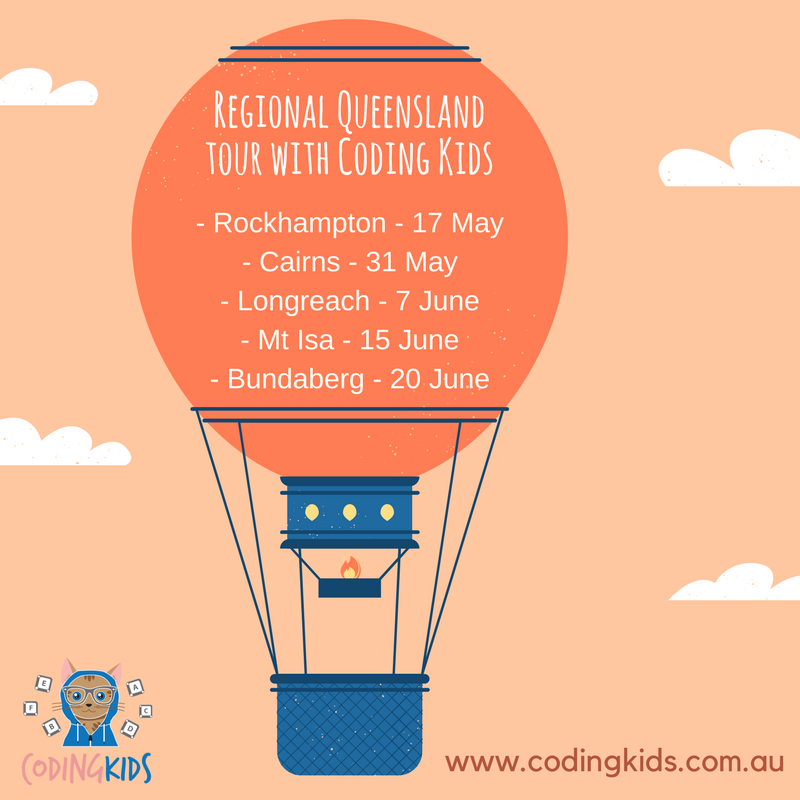 Regional Queensland tour with Coding Kids and Queensland Government