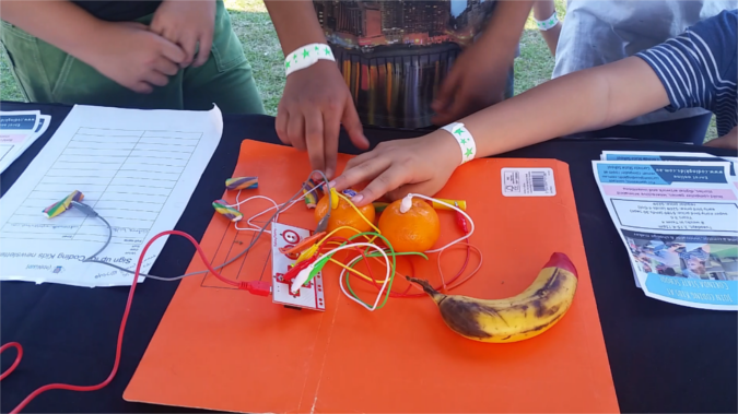 An example of a Makey Makey game controller.
