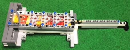 The rescue packages into the chute of an actuator. (Image taken from Robocup Junior)