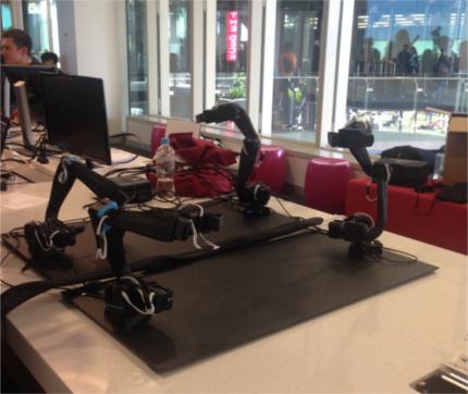 RAWrobotics' Orion5 robotic arms in action.