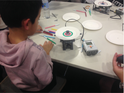 Lego EV3 Drawing Robots in action.
