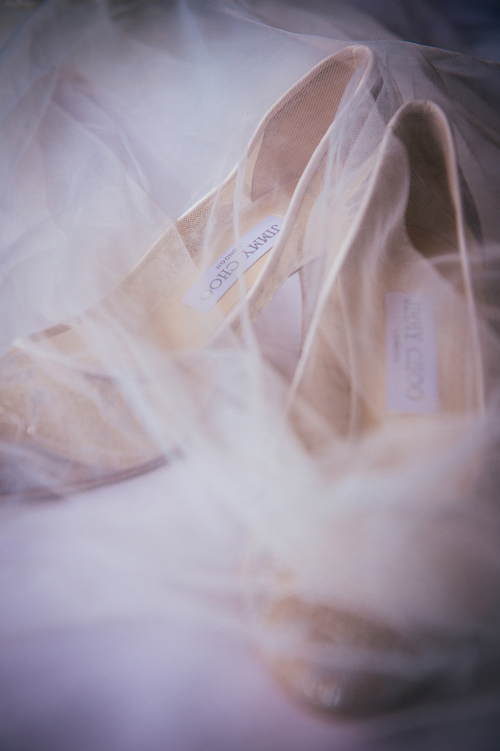 Jimmy Choo wedding shoes and veil.JPG