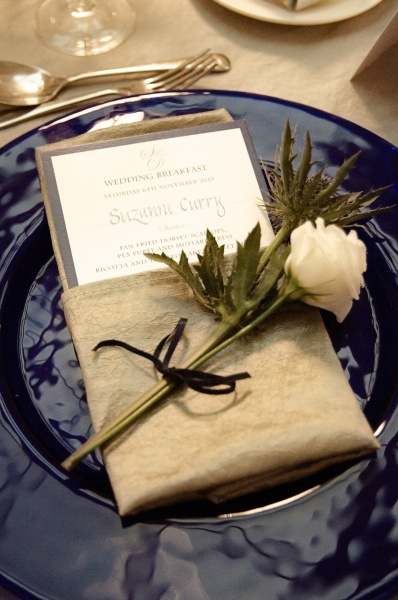 Table setting charger plate, napkin and wedding menu.jpg
