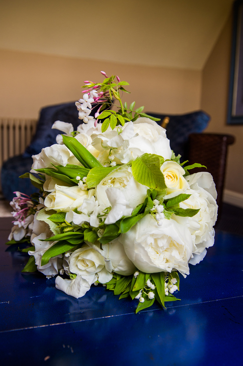 Wedding bouquet Roses, lily of the valley and peonies.JPG