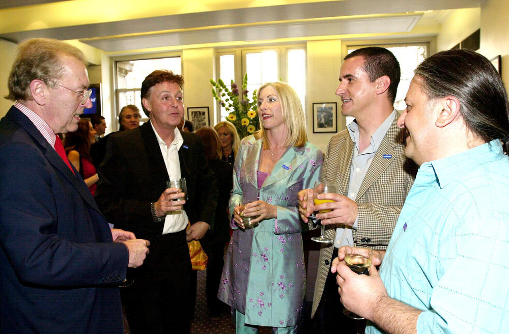 "2002 BAFTA Premier of a Documentary I shot ""Path to a Safer World"" with guest of honour Sir Paul McCartney."