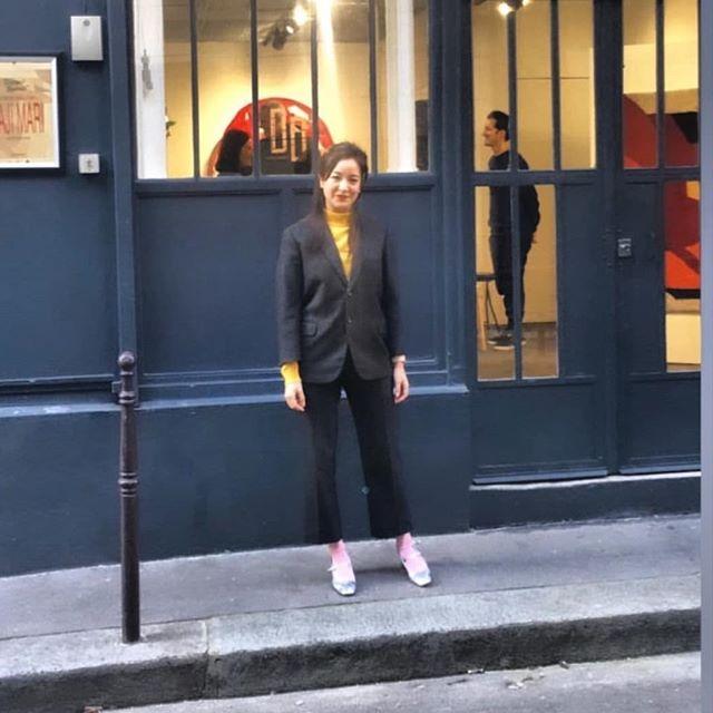 Quand @tokyoitesart accompagne @tiffanybouelle . . . . . #tokyo #japonisme #paris #art #arty