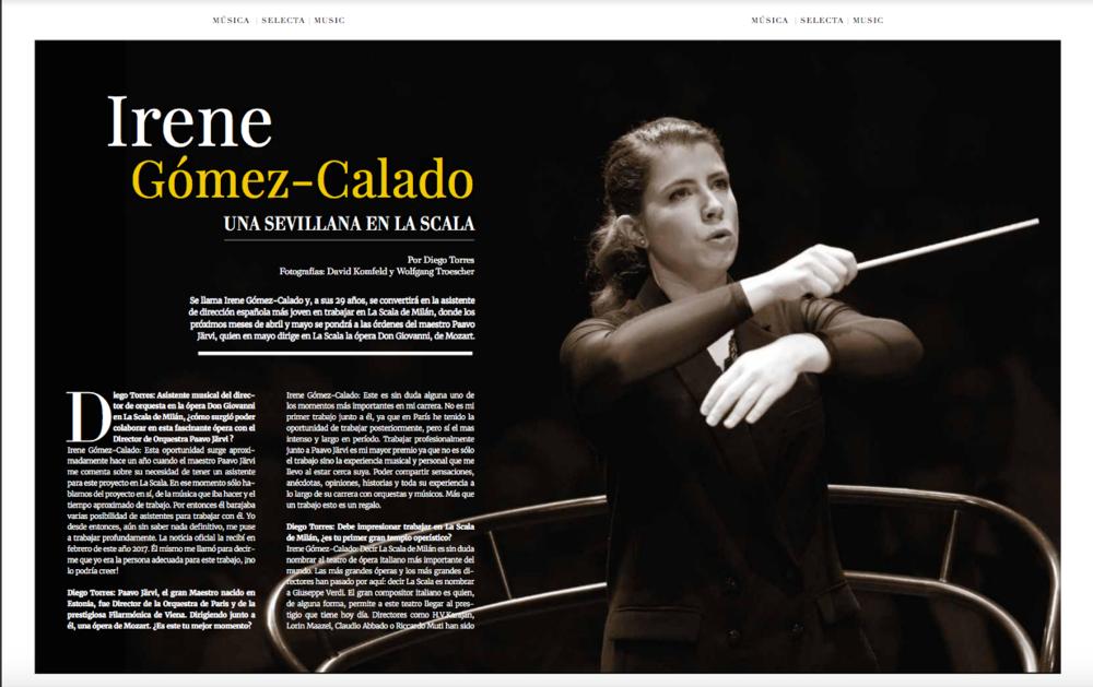 Irene Gómez-Calado, una sevillana en La Scala -