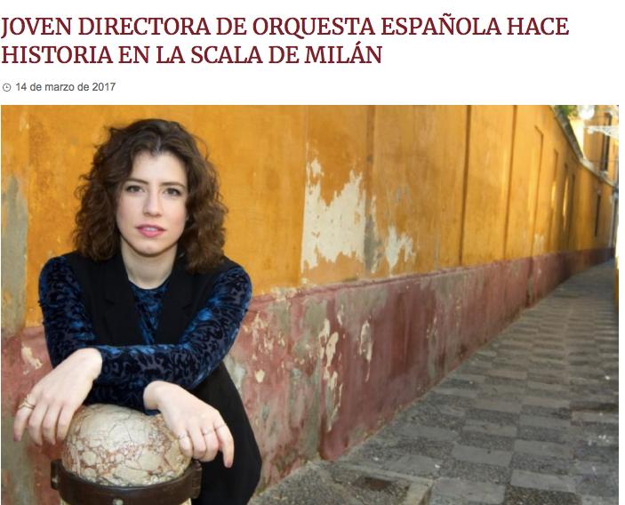 Codalario - Joven directora de orquesta española hace historia en La Scala de Milán -
