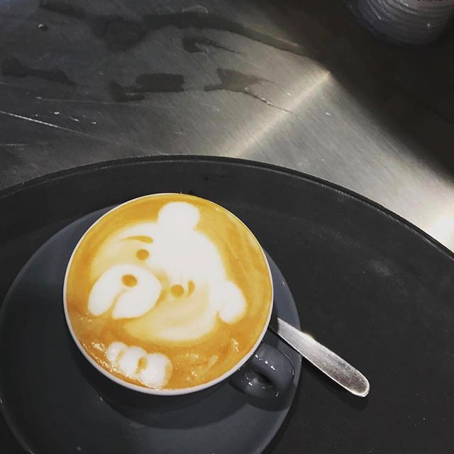 I can bear-ly believe he actually managed this ;) #teddybear #animallover #latteart #coffee