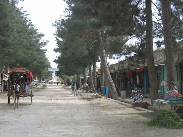Typical Maimana street scene