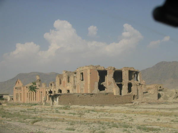 Common scene of destroyed government buildings