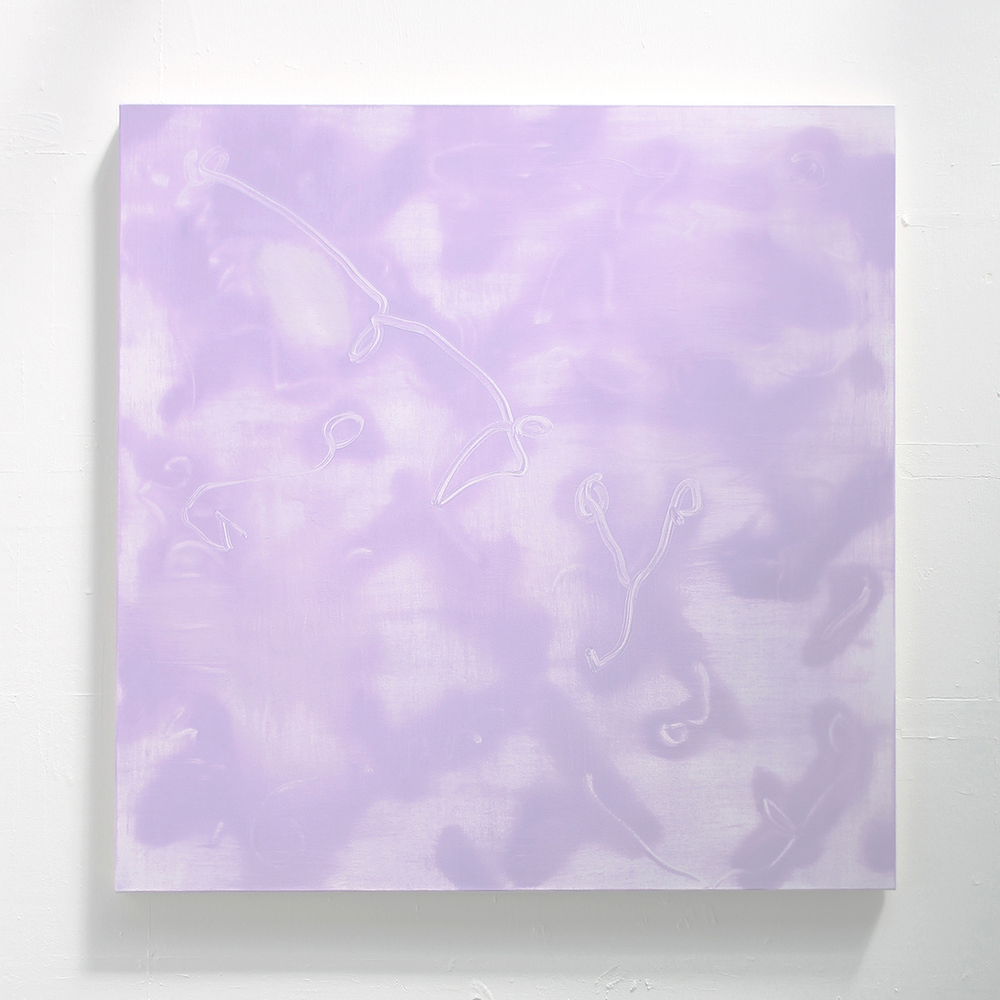 Purple Oasis . Oil on Canvas, 105x105cm, 2015